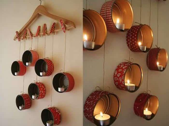 Hiasan Dinding Kamar Dengan Lilin Indah