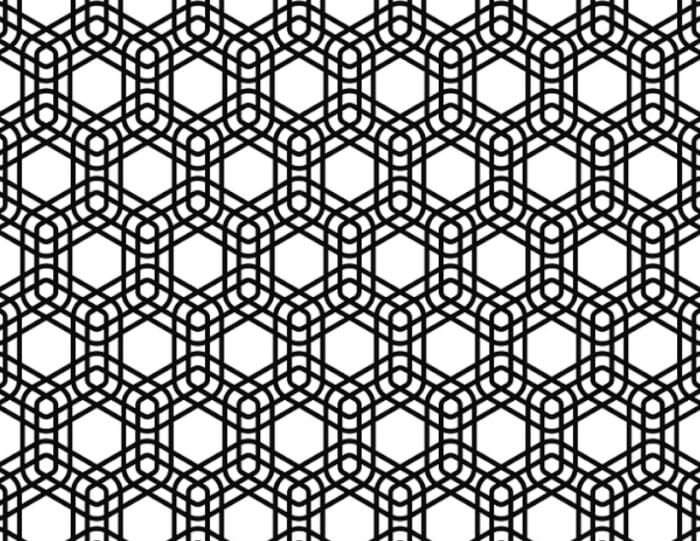 Motif Geometris Segi Enam