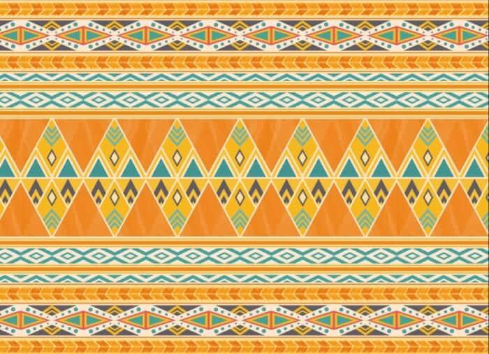 Motif Geometris Tribal