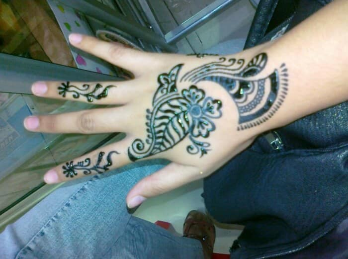 30 Gambar Motif Henna Tangan Kaki Simple Pengantin Art