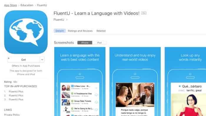 Aplikasi Bahasa Inggris FluentU