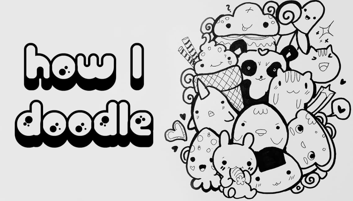 Cara Menggambar Doodle - Thegorbalsla