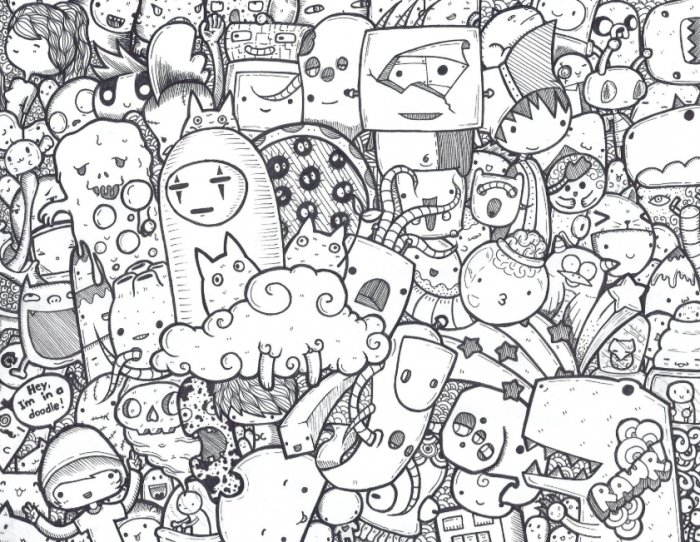 77+ Gambar Doodle Yg Keren Dan Mudah Terbaru