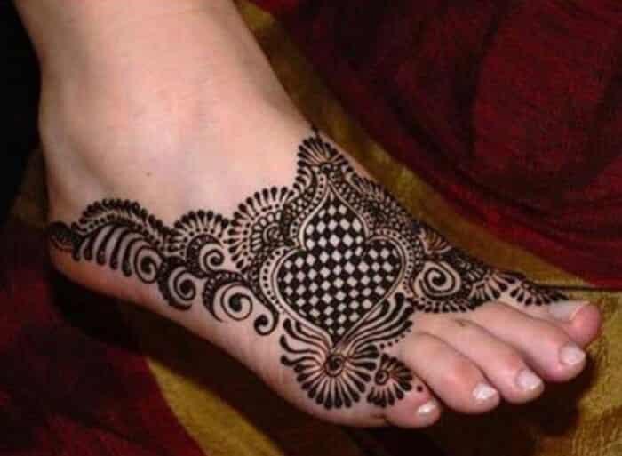 Motif Henna Kaki