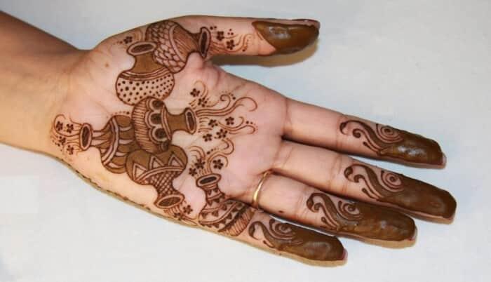 30 Gambar Motif Henna Tangan Kaki Pengantin Simple Lengkap