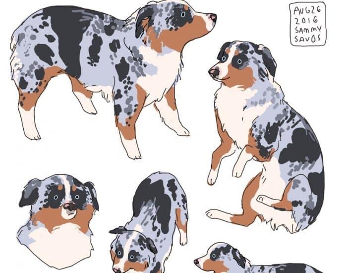 Gambar Ilustrasi Anjing