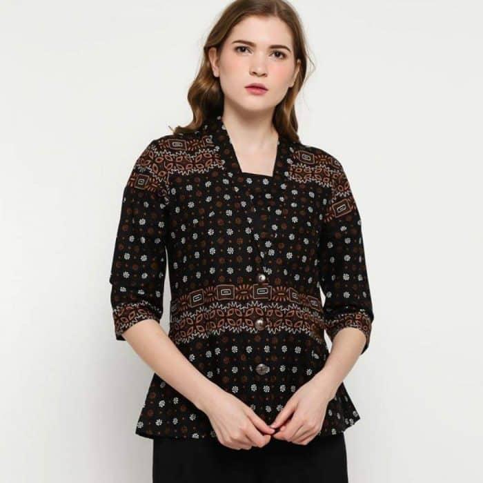 Model Batik Semi Blazer
