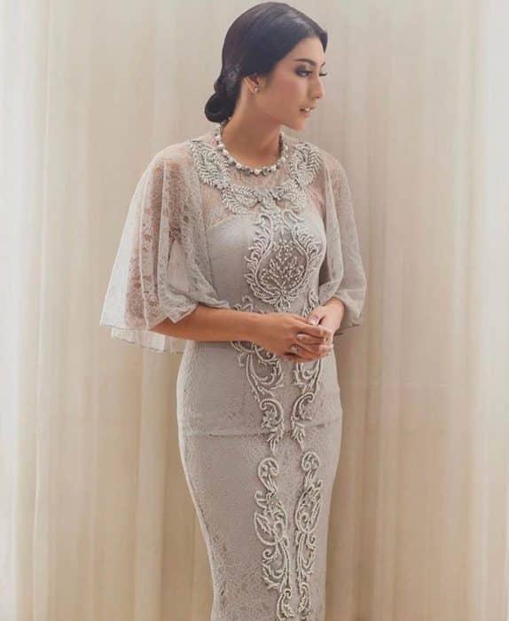 Dress Cape Kombinasi Modern