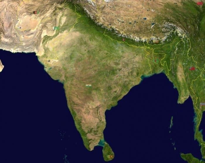 Letak dan Kondisi Geografis India