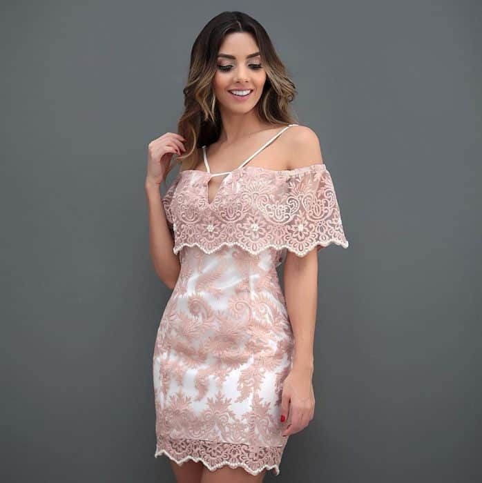 Mini Dress Kombinasi Brokat