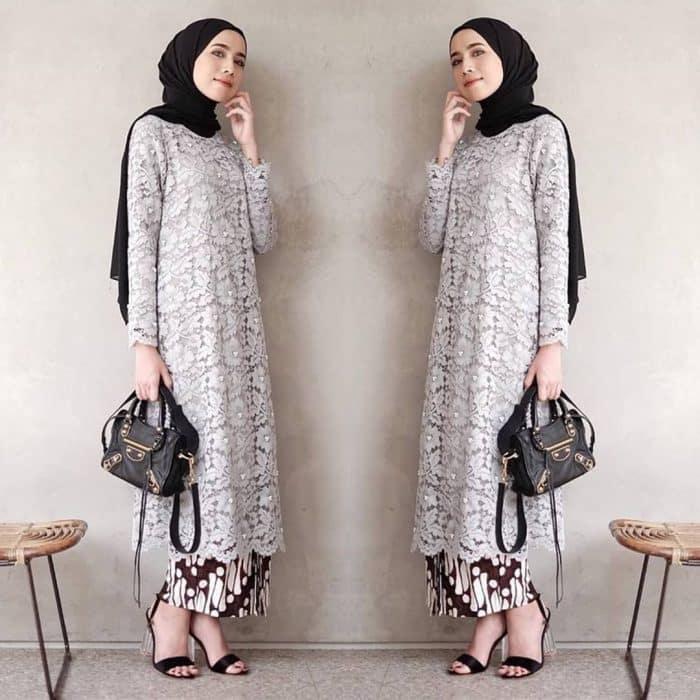 Model Atasan Brokat Muslim Modern