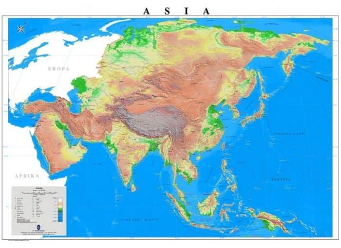 Peta Benua Asia