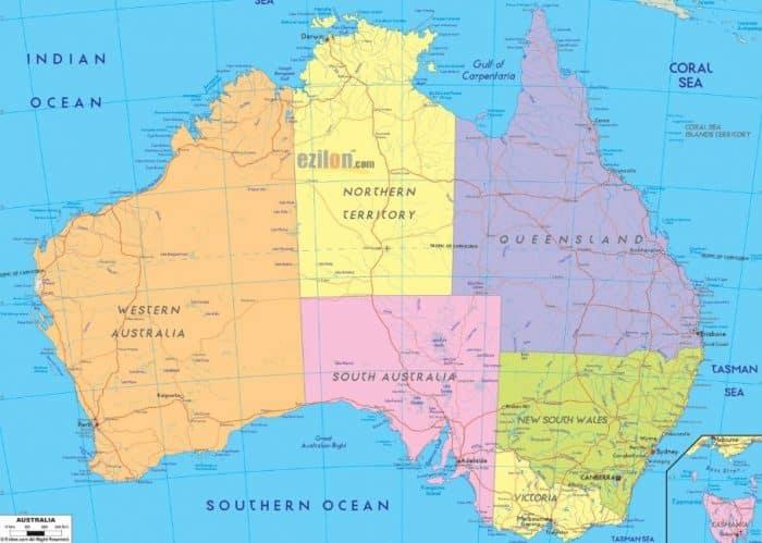 Peta Benua Australia