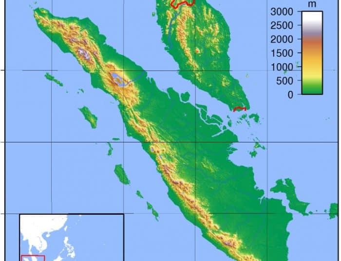 Peta Pulau Sumatera
