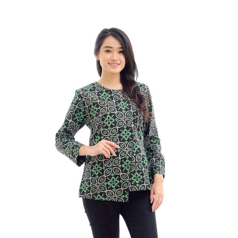 Model Atasan Baju Batik Wanita: 59 Model Atasan Batik (Update Dan Terlengkap