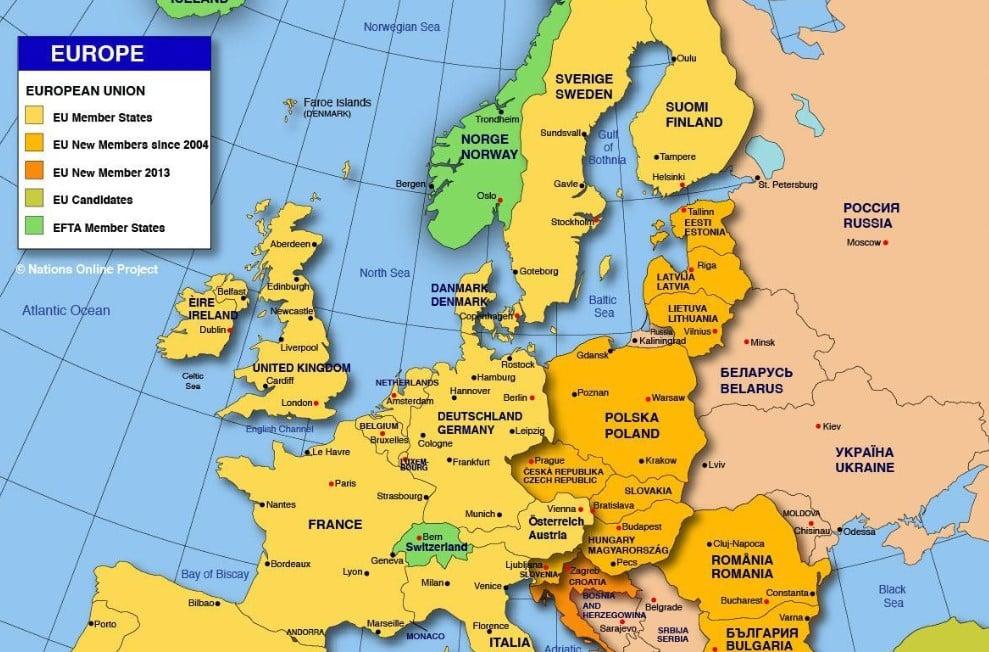 Eropa Timur Gambar Peta Benua Eropa Peta Benua Eropa Kekayaan Alam Batas Wilayah Budaya