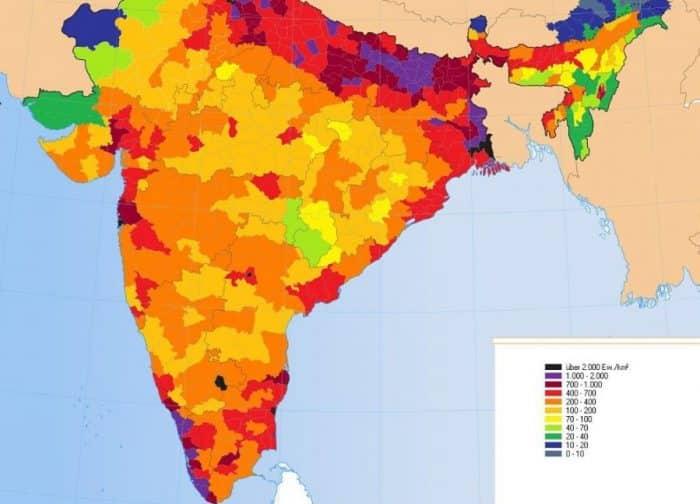 Peta Kepadatan Penduduk India