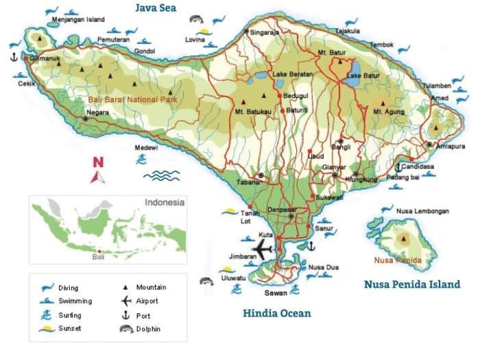 Gambar Peta Bali Lengkap