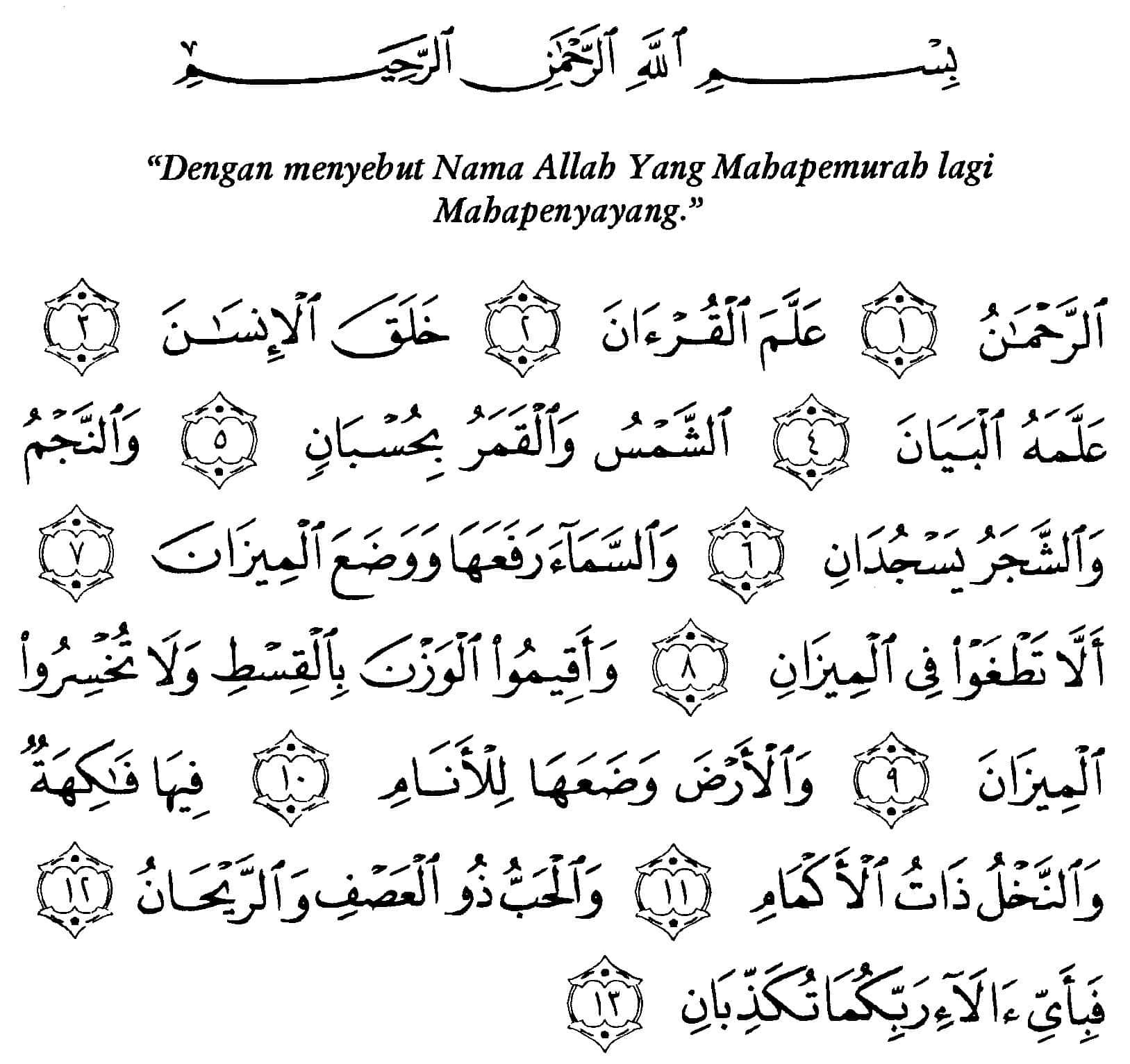 Membacakan Surat Ar Rahman Thegorbalsla