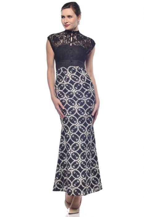 Model Baju Batik Elagan Kerah Semi Cheongsam