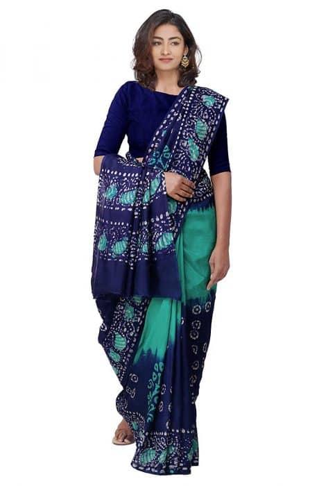 Model Baju Batik Etnik India Saree Semi Formal