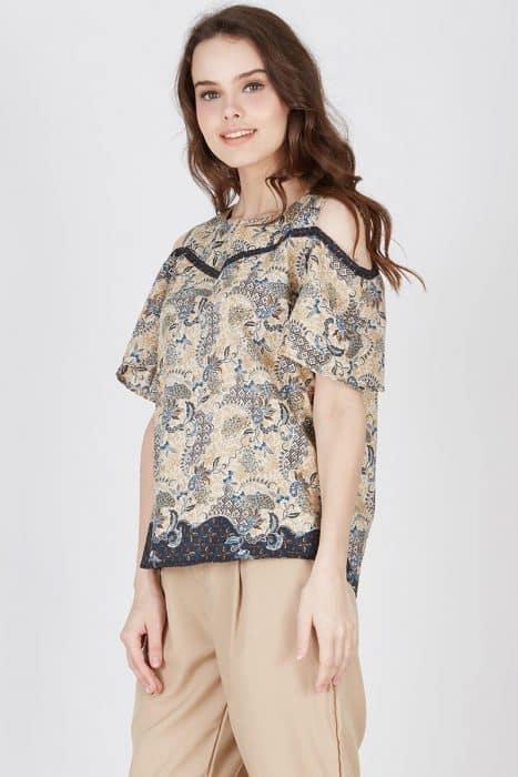 Model Baju Batik Gamis Lengan Panjang