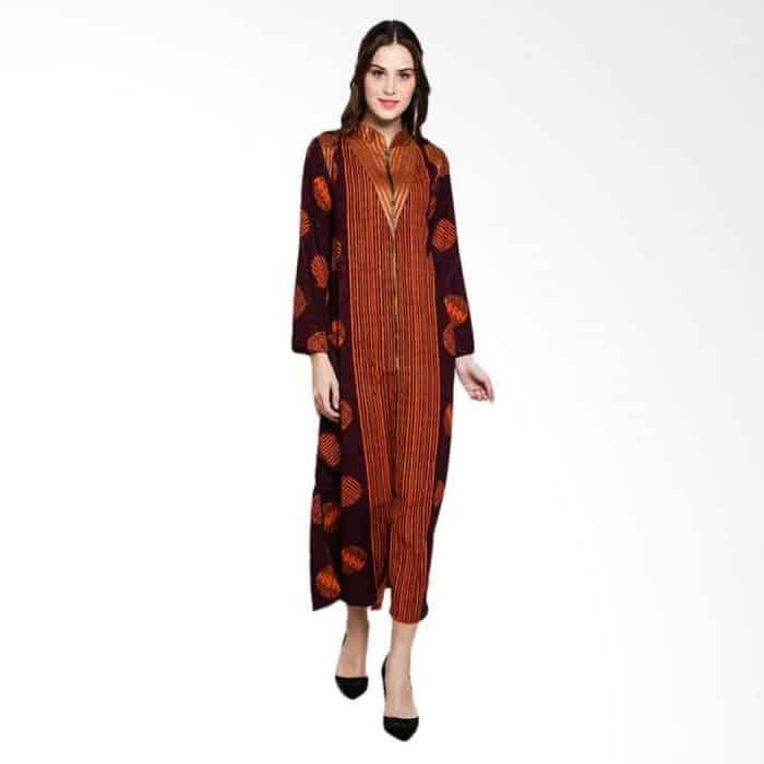 Model Baju Batik Lengan Panjang Kombinasi