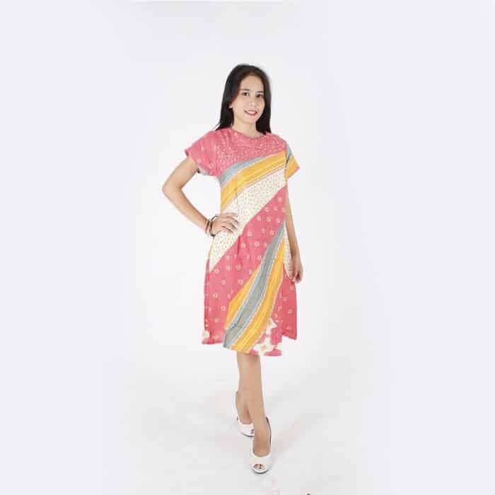 Model Baju Batik Non Formal Warna Cerah