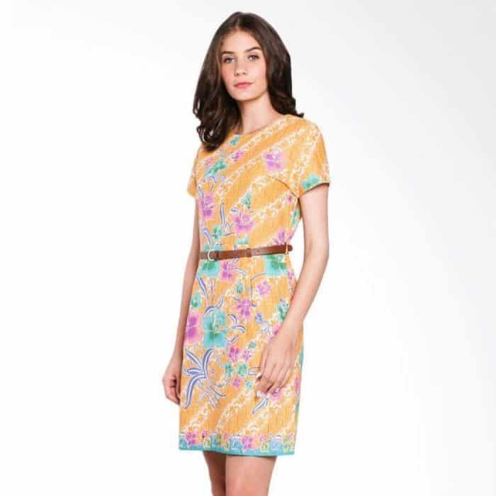 Model Baju Batik Press Body Dengan Belt