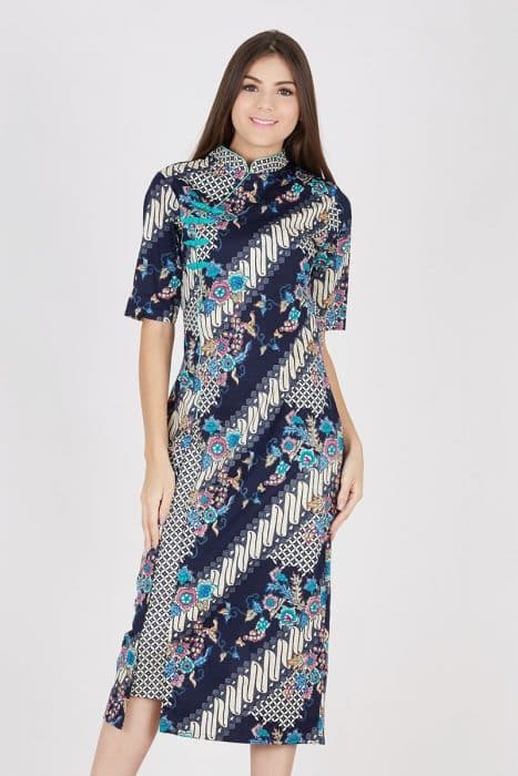 Model Baju Batik Wanita Cheongsam