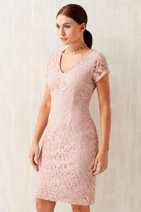 Model Baju Brokat Dress Simple Pressed Body