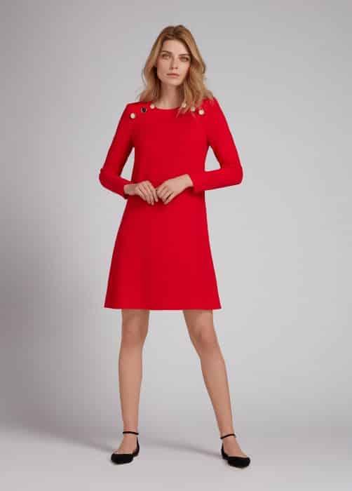 Model Baju Tunik Red Mini Dress