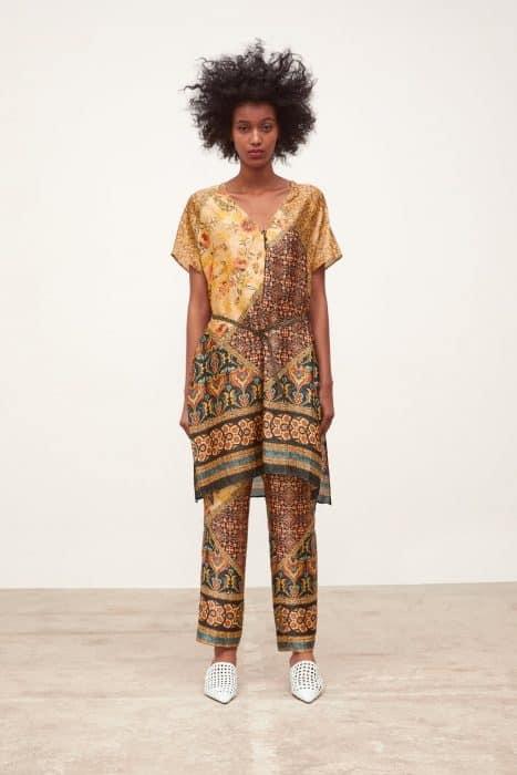 Model Baju Tunik Sutra Motif Set