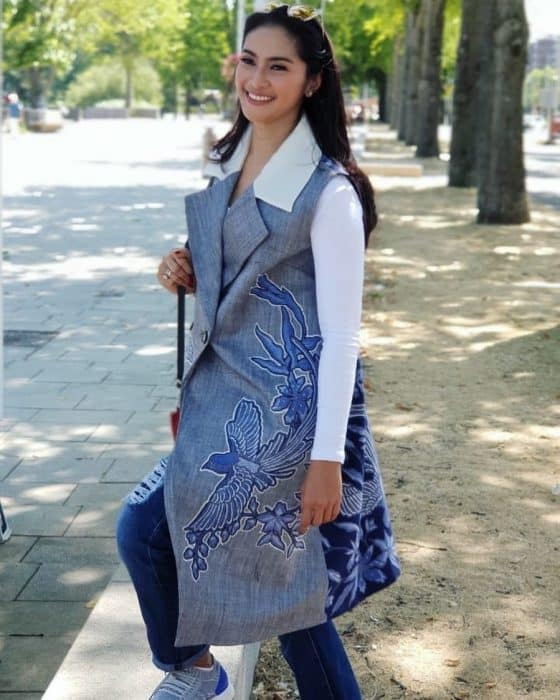 Model Batik Casual Cold Soulder
