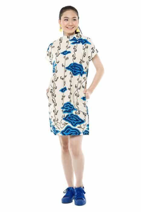 Model Batik Dress Cold Soulder