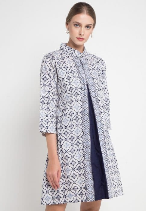 Model Batik Dress Kombinasi