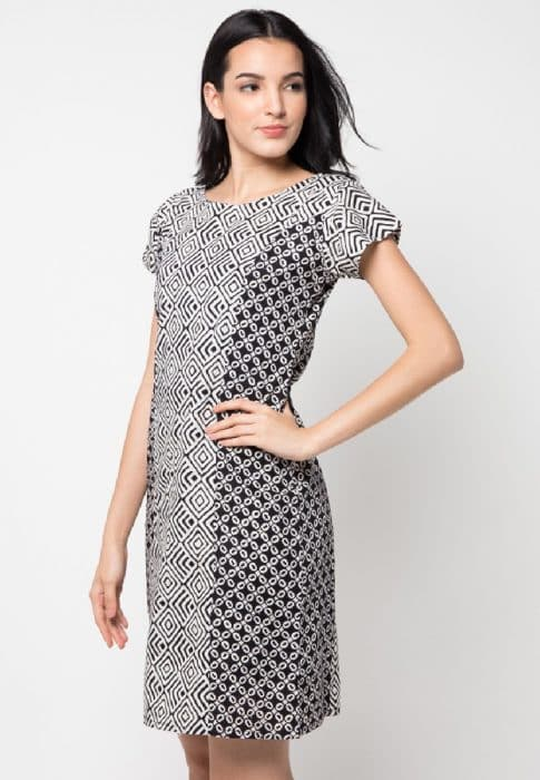 Model Batik Dress Simple