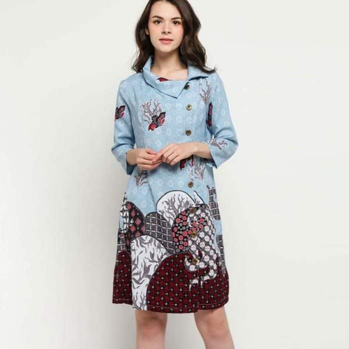Model Batik Dress Unik Modern