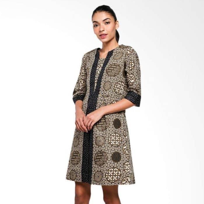 Model Batik Simple Dress Kombinasi