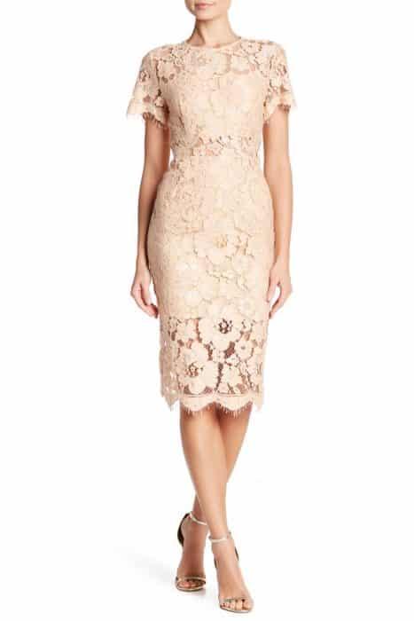 Model Dress Dengan Brokat Skin Color