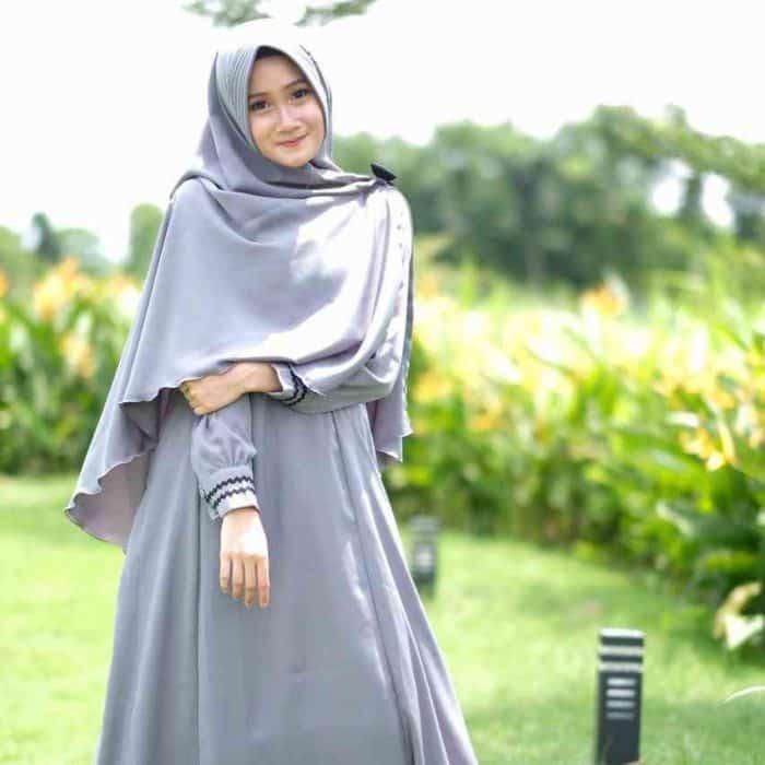 Model Hijab Panjang Setelan