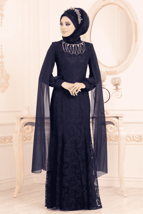 Model Set Baju Brokat Hijab