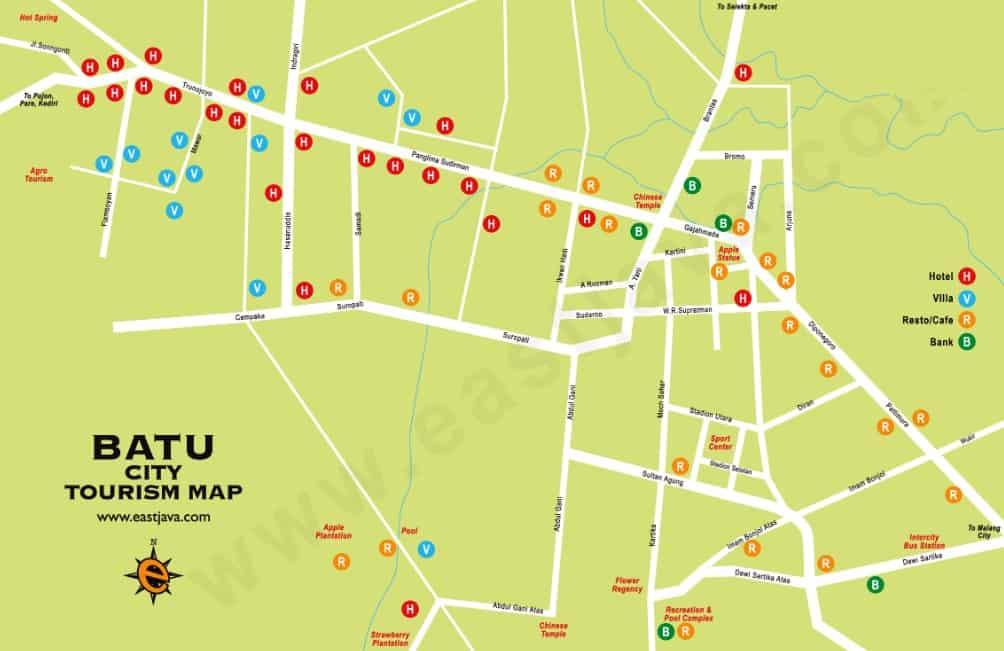 Peta Wisata Kota Batu Malang Thegorbalsla