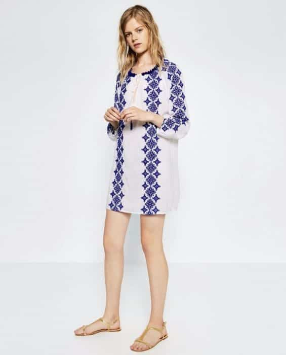 Sexy Embroider Tunic In Boho Style