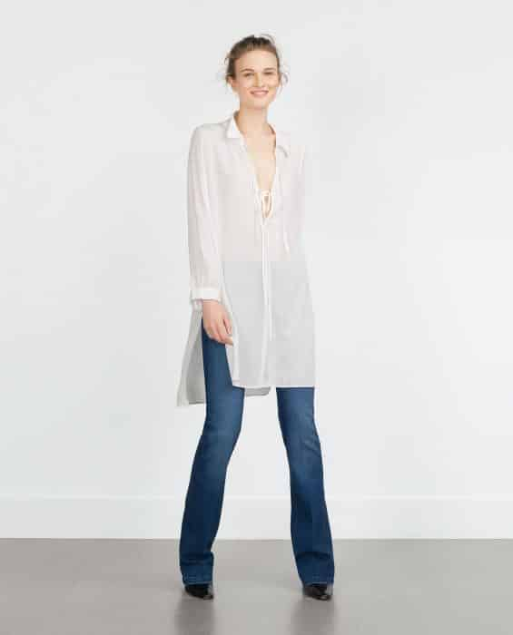 Stylish Simple Tunik In White