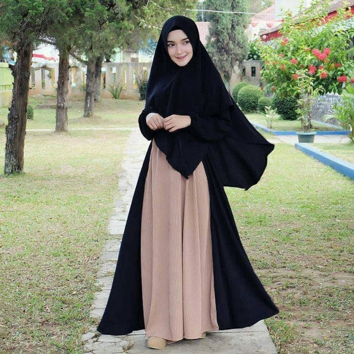 Model Hijab Panjang Gamis