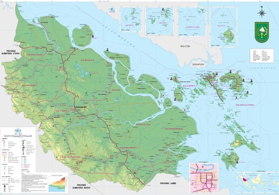 Peta Riau Kekayaan Alam Demografis Sosial Budaya Lengkap