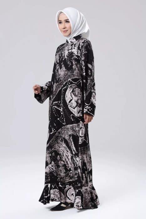 Baju Muslim Batik Kombinasi