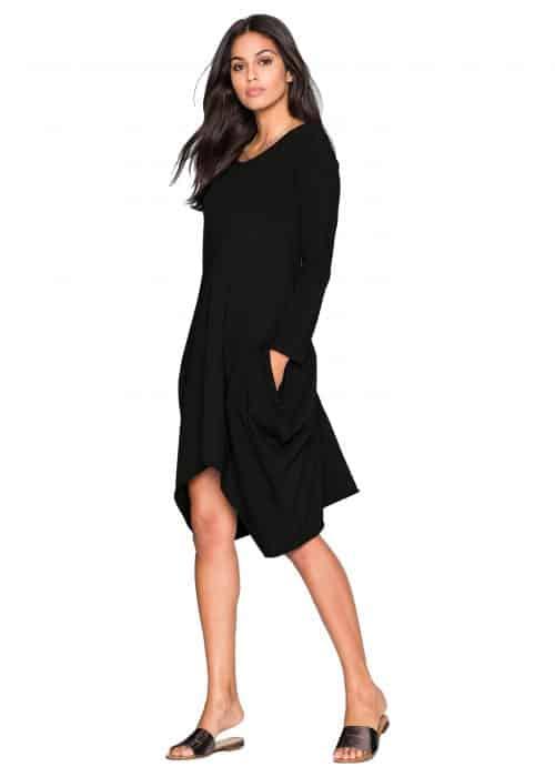 Beauty In Black Tunic Dress