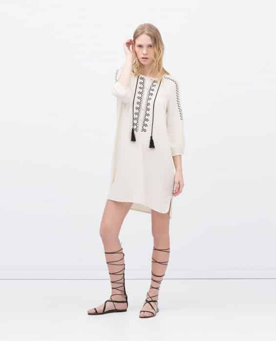 Boho Tunic Dress With Gladiator Style